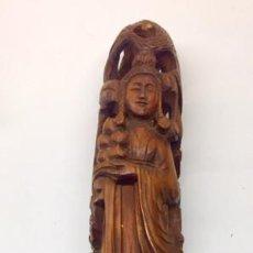 Antigüedades: TALLA DIOSA CHINA FINALES S.XVIII. Lote 256167520