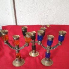 Antigüedades: ANTIGUOS CANDELABROS. Lote 256247065