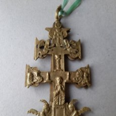 Antigüedades: ANTIGUA CRUZ RELIGIOSA DE 2 CARAS. Lote 257273105