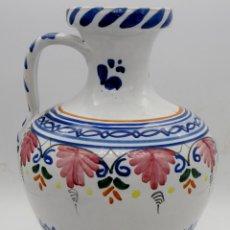 Antigüedades: GRAN JARRA-CÁNTARO ANTIGUA DE CERÁMICA PUENTE DEL ARZOBISPO. FIRMADA. NUEVA. Lote 257296010