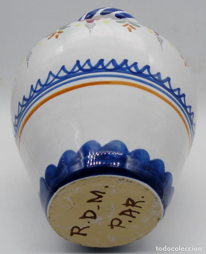 Antigüedades: GRAN JARRA-CÁNTARO ANTIGUA DE CERÁMICA PUENTE DEL ARZOBISPO. FIRMADA. NUEVA - Foto 3 - 257296010