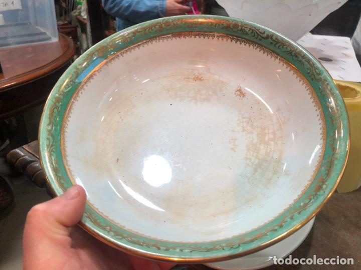 ANTIGUA ENSALADERA CERAMICA SAN CLAUDIO - MEDIDA 23 CM (Antigüedades - Porcelanas y Cerámicas - San Claudio)