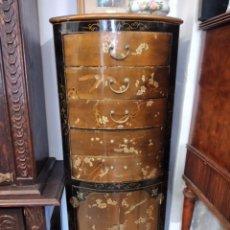 Antigüedades: PRECIOSO GABINETE CHINO, LACA CHINA PINTADO A MANO, CON CAJONES Y 2 PUERTAS.. Lote 257308350