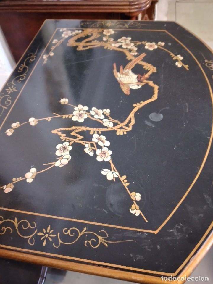 Antigüedades: Precioso gabinete chino, laca china pintado a mano, con cajones y 2 puertas. - Foto 10 - 257308350