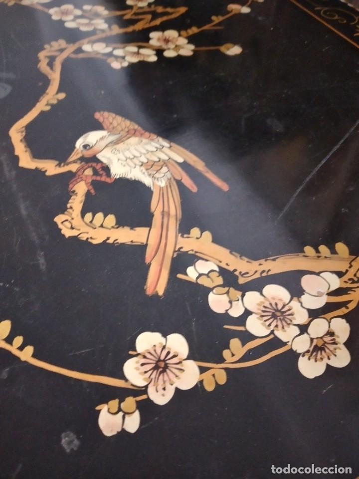 Antigüedades: Precioso gabinete chino, laca china pintado a mano, con cajones y 2 puertas. - Foto 11 - 257308350