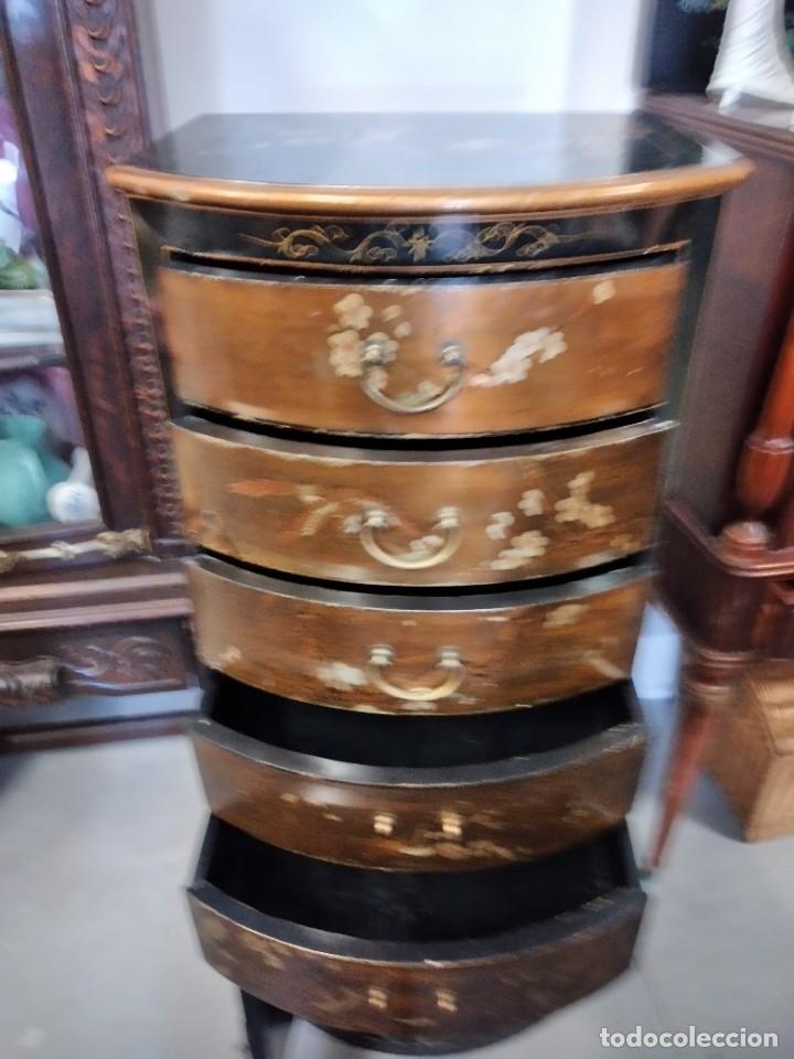 Antigüedades: Precioso gabinete chino, laca china pintado a mano, con cajones y 2 puertas. - Foto 13 - 257308350