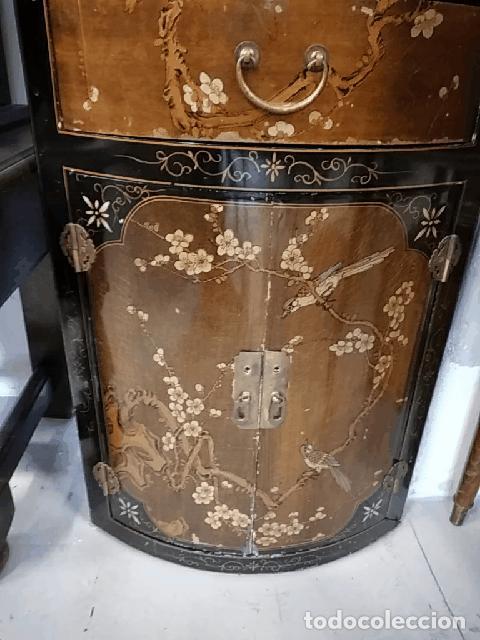 Antigüedades: Precioso gabinete chino, laca china pintado a mano, con cajones y 2 puertas. - Foto 18 - 257308350
