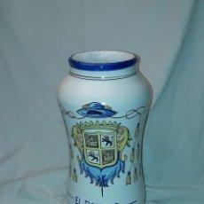 Antigüedades: PRECIOSO GRAN TARRO ALBARELO DE CERÁMICA STOS. MARTIRES TALAVERA EL PAULAR 29CM. Lote 257329940