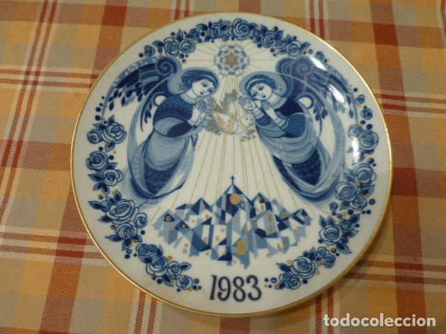 PLATO SANTA CLARA NAVIDAD 1983 (Antigüedades - Porcelanas y Cerámicas - Santa Clara)