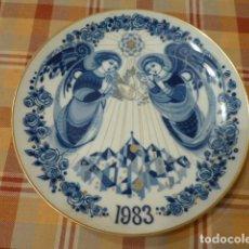 Antigüedades: PLATO SANTA CLARA NAVIDAD 1983. Lote 257333645