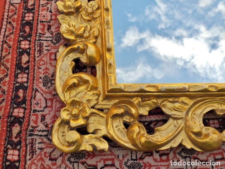 Antigüedades: Espejo antiguo pan de oro 160cm estilo barroco sXIX Gran espejo dorado madera tallada estilo Luis XV - Foto 12 - 257349065
