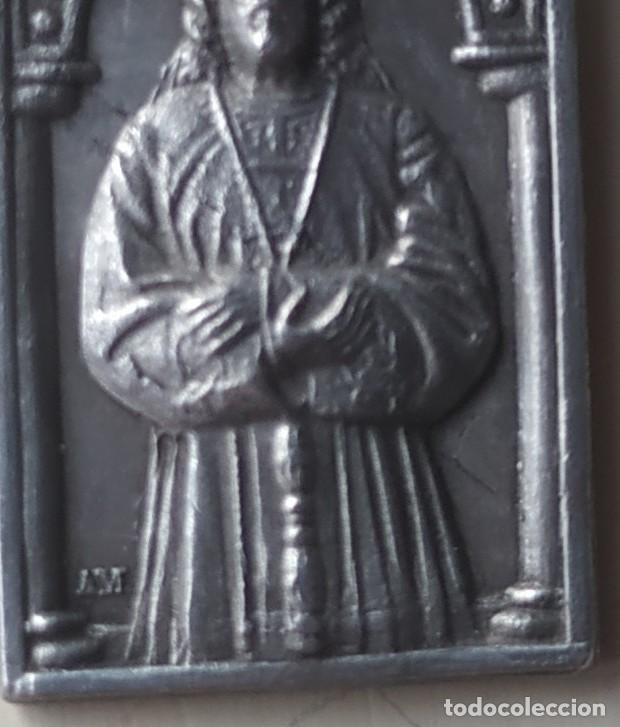 Antigüedades: Antigua medalla Nuestro Padre Jesús. Padres Capuchinos. Madrid. - Foto 2 - 257353065