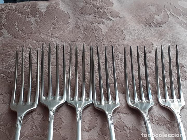 Antigüedades: Tenedores de plata de postre - Foto 4 - 257353175