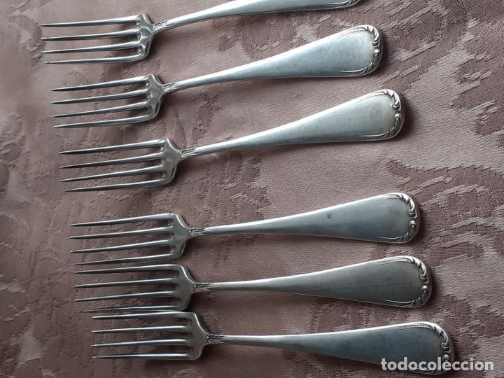 Antigüedades: Tenedores de plata de postre - Foto 6 - 257353175
