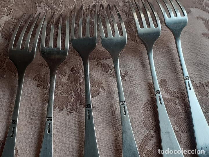 Antigüedades: Tenedores de plata de postre - Foto 7 - 257353175