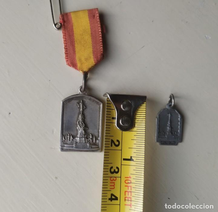 Antigüedades: Dos antiguas medallas del Cerro de los Ángeles. Recuerdo y Año Santo 1944.1945 - Foto 6 - 257353535