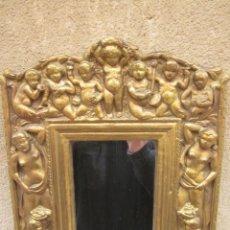 Antigüedades: ESPEJO CON ANGELOTES. Lote 257381725