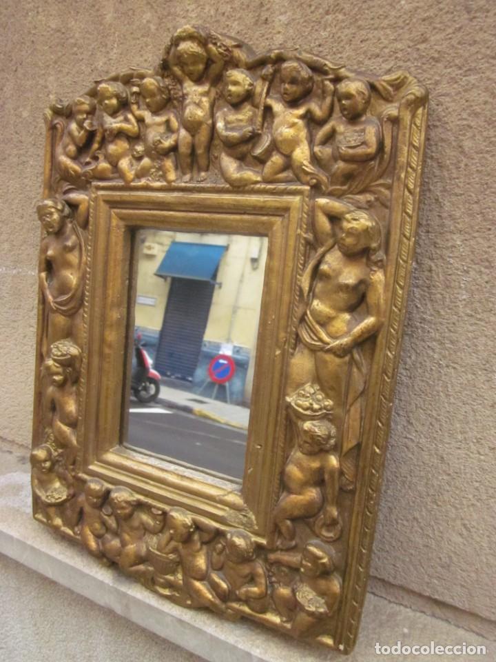 Antigüedades: ESPEJO CON ANGELOTES - Foto 2 - 257381725