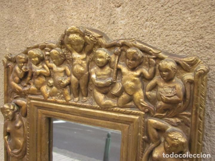 Antigüedades: ESPEJO CON ANGELOTES - Foto 3 - 257381725