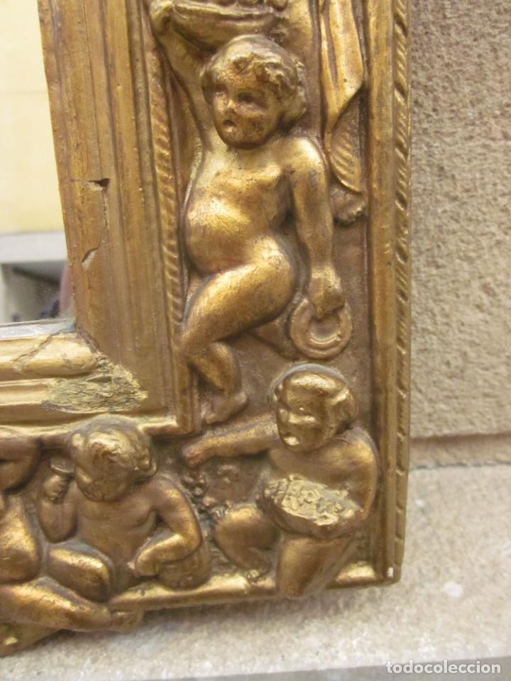 Antigüedades: ESPEJO CON ANGELOTES - Foto 4 - 257381725
