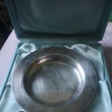 Antigüedades: PLATA ALEMANA PLATO Y CUCHARA. Lote 257389205