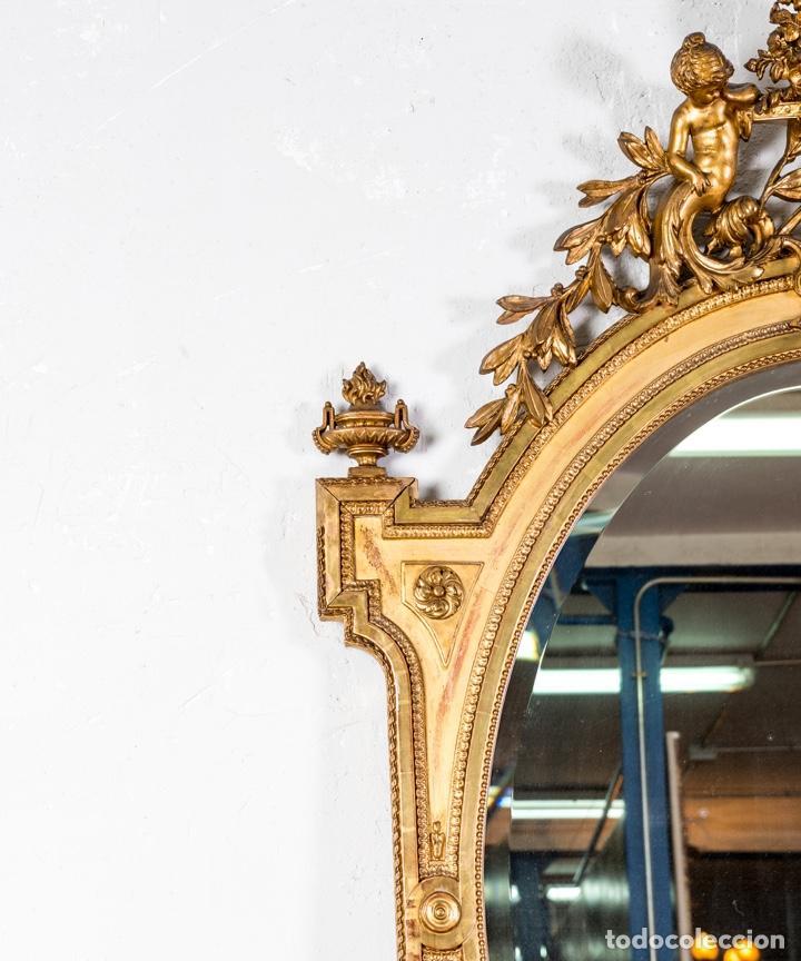 Antigüedades: Espejo Antiguo Pan De Oro S.XIX - Foto 4 - 257390360