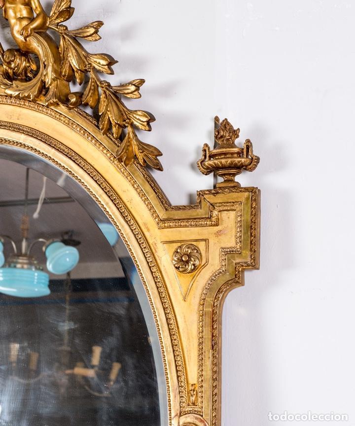 Antigüedades: Espejo Antiguo Pan De Oro S.XIX - Foto 5 - 257390360