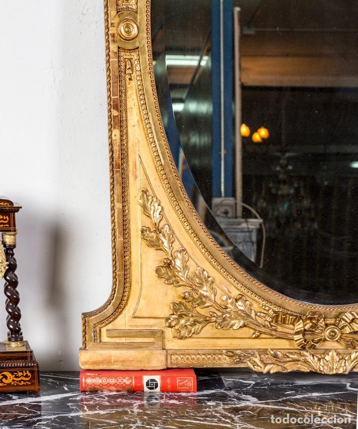 Antigüedades: Espejo Antiguo Pan De Oro S.XIX - Foto 6 - 257390360