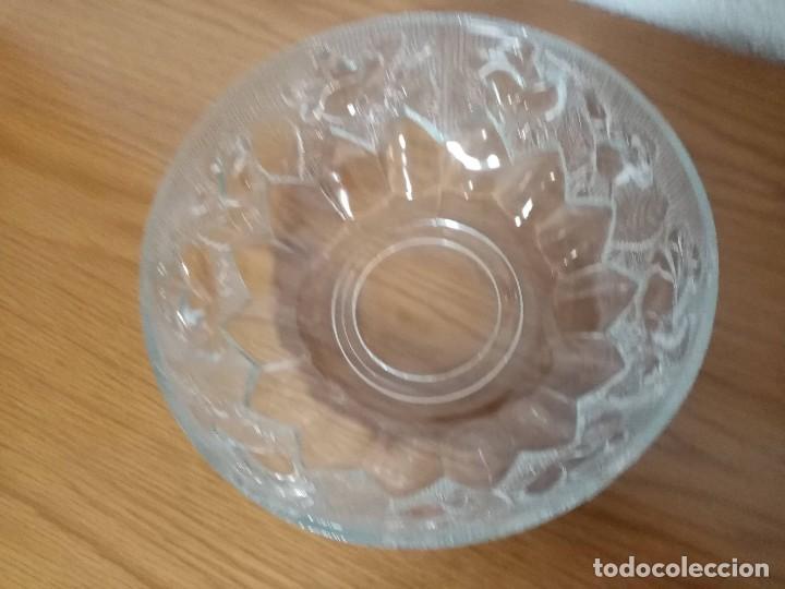 Antigüedades: Antigua ensaladera,frutero,fuente,de cristal tallado de Covetro Italy,años 80 - Foto 6 - 257403015