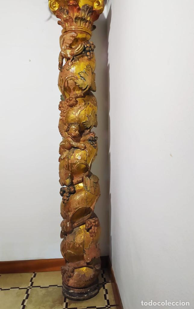 Antigüedades: Columna barroca del 1800 - Foto 7 - 193634397