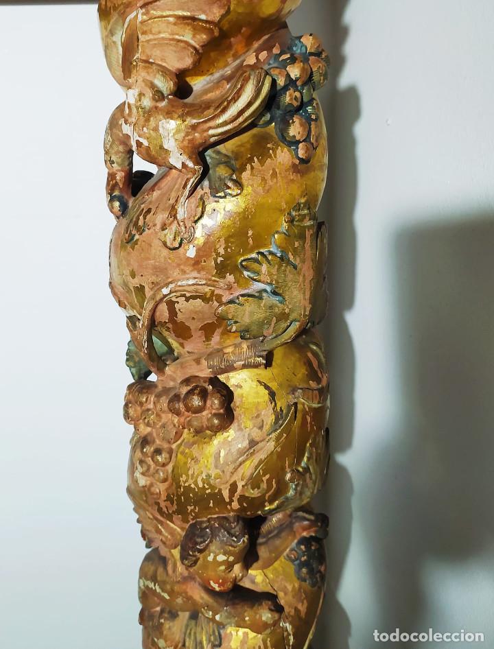 Antigüedades: Columna barroca del 1800 - Foto 11 - 193634397