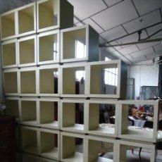 Antigüedades: CUBOS MADERA PARA ESTANTERIAS. Lote 257435625