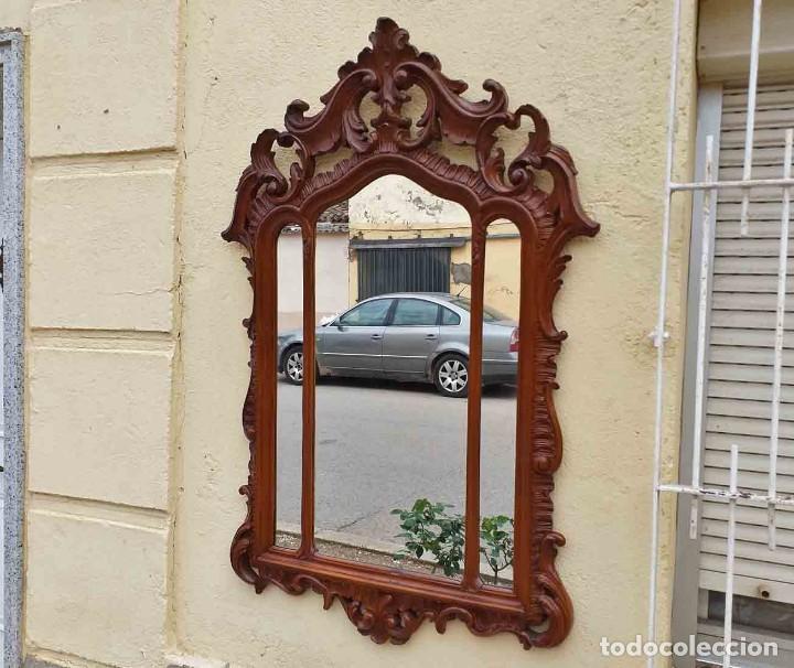 Antigüedades: Espejo antiguo estilo barroco. Espejo antiguo estilo Luis XV. Espejo vintage tríptico. - Foto 2 - 257350290