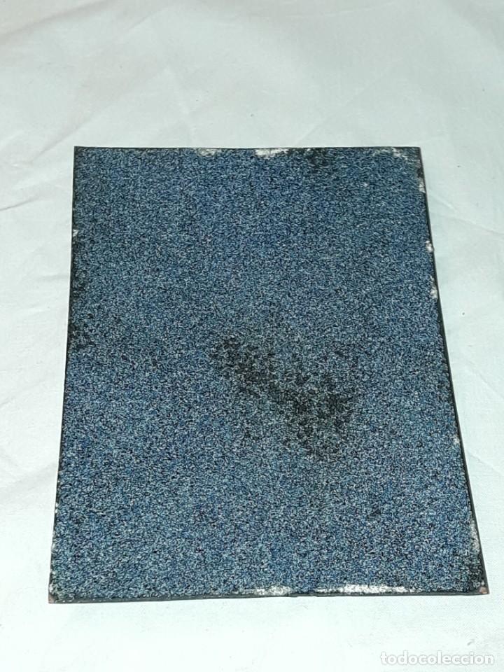 Antigüedades: Bella placa esmalte vidriado al fuego sobre metal pareja firmada G.D. - Foto 6 - 257455695