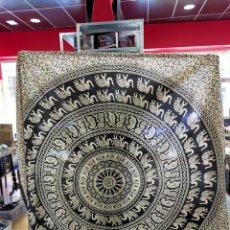 Antigüedades: PAÑUELO TAPIZ MANDALAS TRAIDO DE LA INDIA - ALGODON. Lote 257460310