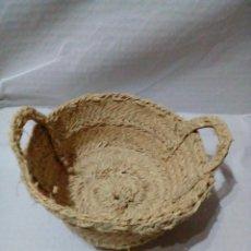 Antigüedades: CESTA DE ESPARTO. Lote 257480760