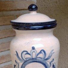 Antigüedades: ANTIGUO ALBARELO DE CERAMICA DE TALAVERA. Lote 257488570