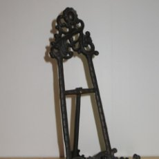 Antigüedades: ANTIGUO ATRIL CABALLETE HIERRO METAL FORJADO FORJA LABRADO MEDIADOS S. XX. Lote 257512080
