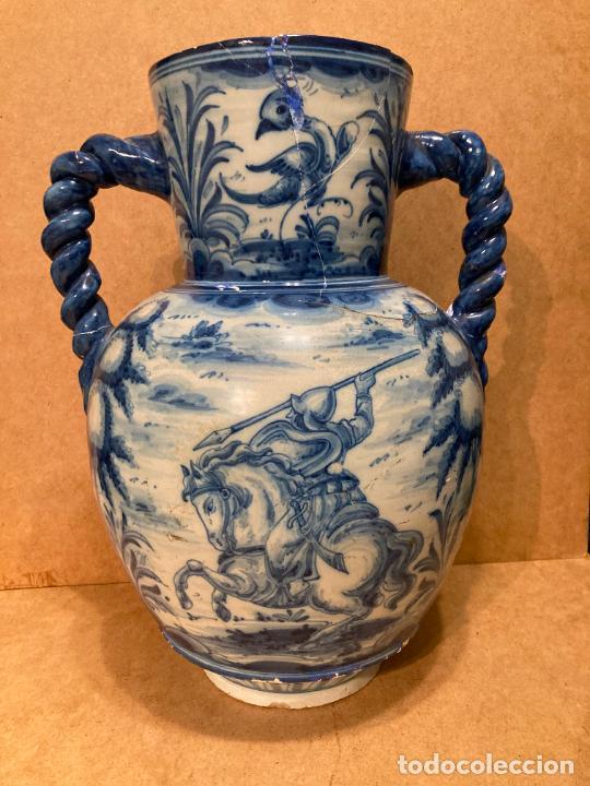 JARRÓN DE TALAVERA DE RUÍZ DE LUNA (Antigüedades - Porcelanas y Cerámicas - Talavera)