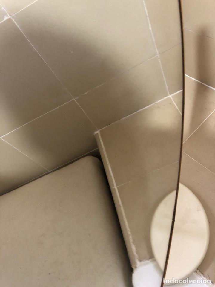 Antigüedades: Antiguo espejo abatible redondo dorado 60-70s - Foto 3 - 257566600