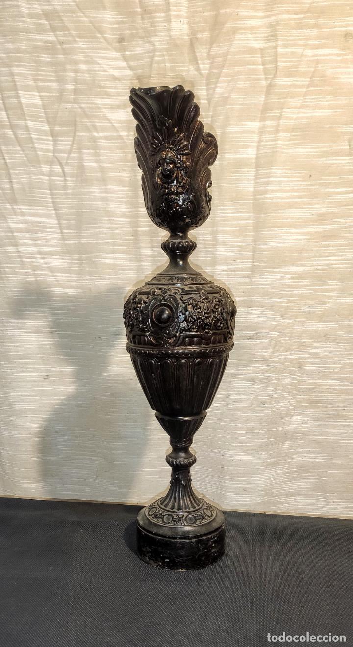 Antigüedades: BONITO JARRON EN CALAMINA, C.1900 - Foto 3 - 257571520