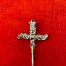 Antigüedades: PEQUEÑO PUÑAL PLATEADO 7 CM (NUEVO). Lote 257600125