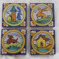 Antigüedades: AZULEJOS OLAMBRILLAS RAMOS REJANO PINTADAS. Lote 257607040