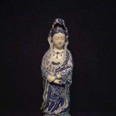 Antigüedades: GUAN YIN CHINA EN PORCELANA. Lote 257607720