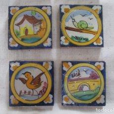 Antigüedades: AZULEJOS OLAMBRILLAS RAMOS REJANO PINTADAS. Lote 257607880