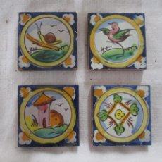 Antigüedades: AZULEJOS OLAMBRILLAS RAMOS REJANO PINTADAS. Lote 257608490