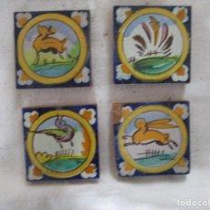 Antigüedades: AZULEJOS OLAMBRILLAS RAMOS REJANO PINTADAS. Lote 257608790