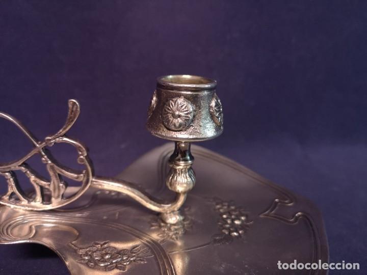Antigüedades: PORTAVELAS MODERNISTA MENESES - Foto 5 - 257609740