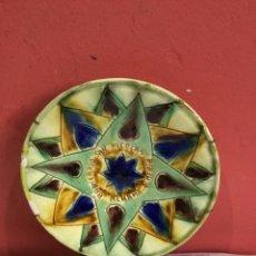 Antigüedades: PLATO CERÁMICA BAINARIO SAN NICOLAS ALHAMA ALMERÍA. Lote 257629555