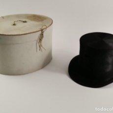 Antigüedades: SOMBRERO DE COPA EN PIEL DE FOCA.BRUCE LTD. LONDON ENG, MANUFACTURERS.. Lote 257651740